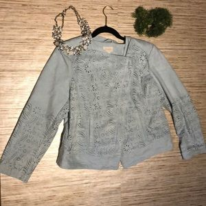 Chico's Faux Suede Jacket